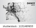 couple dancing rhythmic dance.... | Shutterstock .eps vector #1151489855