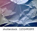 crumpled paper texture... | Shutterstock . vector #1151493395