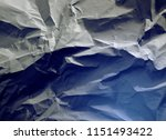 crumpled paper texture... | Shutterstock . vector #1151493422