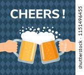 cheers  two hands holding and... | Shutterstock .eps vector #1151496455