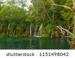 scenic fall valley landscape in ... | Shutterstock . vector #1151498042