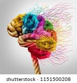 brainstorming and brainstorm... | Shutterstock . vector #1151500208
