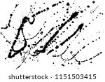 hand drawn set of black ink... | Shutterstock .eps vector #1151503415