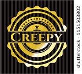 creepy gold badge | Shutterstock .eps vector #1151503802