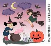 halloween color vector... | Shutterstock .eps vector #1151510558