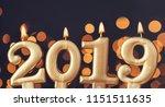 gold new year 2019 celebration...   Shutterstock . vector #1151511635