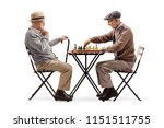 seniors playing a game of chess ... | Shutterstock . vector #1151511755