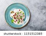 top view of chiles en nogada ...   Shutterstock . vector #1151512385