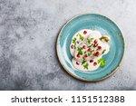 top view of chiles en nogada ... | Shutterstock . vector #1151512388