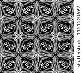 floral black and white abstract ...   Shutterstock .eps vector #1151520692