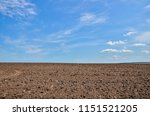 freshly ploughed land.  | Shutterstock . vector #1151521205