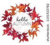 hello autumn vector design... | Shutterstock .eps vector #1151523782