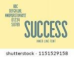 narrow inner line font called... | Shutterstock .eps vector #1151529158