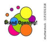 grand opening  cute label  logo ... | Shutterstock .eps vector #1151531318