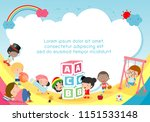 back to school  kids school ... | Shutterstock .eps vector #1151533148