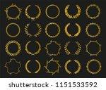 golden vector laurel wreaths on ... | Shutterstock .eps vector #1151533592