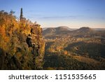 great sunset light at the peak... | Shutterstock . vector #1151535665