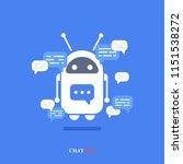 vector modern flat chat bot... | Shutterstock .eps vector #1151538272