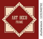 vintage retro invitation in art ... | Shutterstock .eps vector #1151540732
