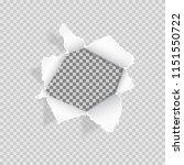 torn paper on transparent... | Shutterstock .eps vector #1151550722