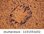 fairy circles on namib desert | Shutterstock . vector #1151551652