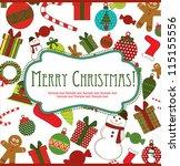 merry christmas card design....   Shutterstock .eps vector #115155556
