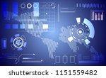 abstract technology ui... | Shutterstock .eps vector #1151559482