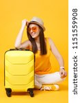 traveler tourist woman in... | Shutterstock . vector #1151559908