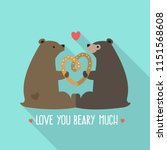 vector love icon of a pair of... | Shutterstock .eps vector #1151568608