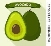 Vector Icon Of Avocado. Avocad...