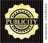 publicity gold emblem or badge | Shutterstock .eps vector #1151581412