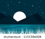 night river landscape with a... | Shutterstock .eps vector #1151586008