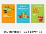 farm information cards set.... | Shutterstock .eps vector #1151599478