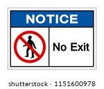 Notice No Exit Symbol Signage...