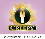 gold shiny emblem with... | Shutterstock .eps vector #1151602775