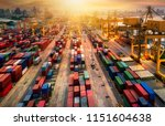 logistics and transportation of ... | Shutterstock . vector #1151604638
