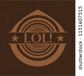 lol  realistic wooden emblem | Shutterstock .eps vector #1151607515