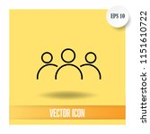 group of people vector icon | Shutterstock .eps vector #1151610722