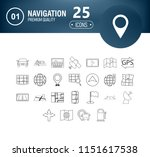 set of 25 interface line icons...
