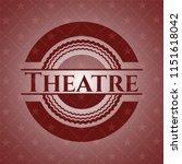 theatre red emblem. vintage. | Shutterstock .eps vector #1151618042