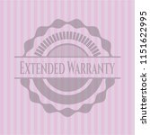 extended warranty pink emblem | Shutterstock .eps vector #1151622995
