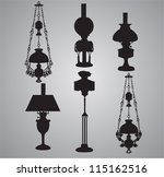 Vintage Lamps - stock vector