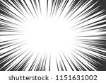 comic book radial lines... | Shutterstock .eps vector #1151631002