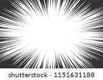 comic book radial lines... | Shutterstock .eps vector #1151631188