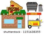 fast food objects | Shutterstock . vector #1151638355