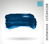 blue brush stroke and texture.... | Shutterstock .eps vector #1151641268