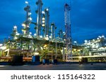 petrochemical plant in night... | Shutterstock . vector #115164322