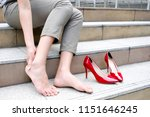 women with leg cramps and...   Shutterstock . vector #1151646245