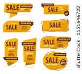 banner sale collection set  ... | Shutterstock .eps vector #1151646722