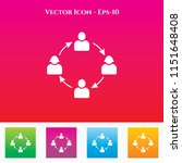 team icon in colored square box.... | Shutterstock .eps vector #1151648408